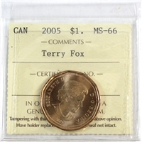 2005 Canada Terry Fox Dollar ICCS Certified MS-66