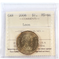 2008 Canada Loon Dollar ICCS Certified MS-66