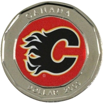 2009 Canada Calgary Flames Dollar Proof Like (from Keychain) $
