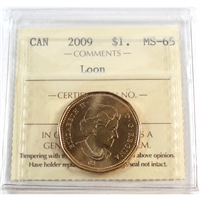 2009 Canada Loon Dollar ICCS Certified MS-65