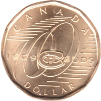 2009 Canada Montreal Canadiens Dollar Brilliant Uncirculated (MS-63)