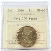 2010 Canada Navy Dollar ICCS Certified MS-66