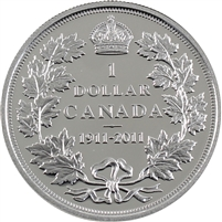 2011 Canada 100th Ann. Dollar Silver Proof $