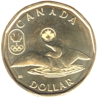 2012 Canada Olympic Loon (Lucky) Dollar Brilliant Uncirculated (MS-63)