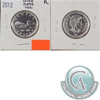 2012 Canada Silver Plated Loon Dollar Proof Like (from RCM Card)