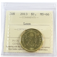 2013 Canada Loon Dollar ICCS Certified MS-66
