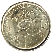 2014 Canada Birthday Dollar Brilliant Uncirculated (MS-63)