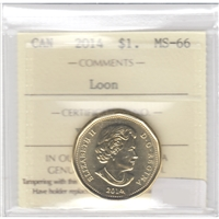 2014 Canada Loon Dollar ICCS Certified MS-66