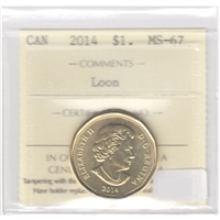 2014 Canada Loon Dollar ICCS Certified MS-67
