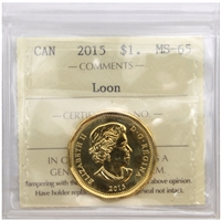 2015 Canada Loon Dollar ICCS Certified MS-65