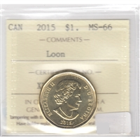 2015 Canada Loon Dollar ICCS Certified MS-66