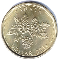 2016 Christmas Canada Dollar Brilliant Uncirculated (MS-63)