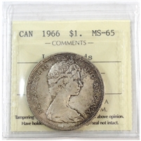 1966 Canada Dollar ICCS Certified MS-65 Large Beads