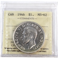 1946 Canada Dollar ICCS Certified MS-62