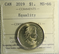 2019 Equality Canada Loon $1 ICCS Certified MS-66