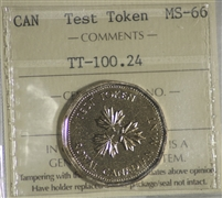 (2004) Canada $1 Test Token TT-100.24 ICCS Certified MS-66