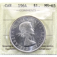 1964 Canada Dollar ICCS Certified MS-65 (XHK 958)
