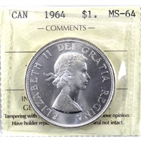1964 Canada Dollar ICCS Certified MS-64 (XHK 948)