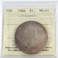 1964 Canada $1 ICCS Certified MS-65 (XXO 563)