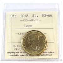 2018 Canada Dollar ICCS Certified MS-66 Loon