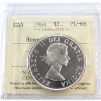 1964 Canada $1 ICCS Certified PL-66 Heavy Cameo (XFA 265)