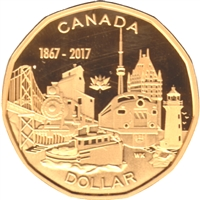 2017 Connecting a Nation Canada Dollar Silver Proof $