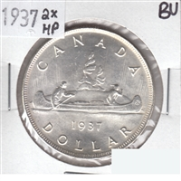 1937 2xHP Canada Dollar Brilliant Uncirculated