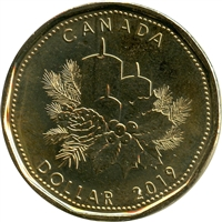 2019 Christmas Canada Dollar Brilliant Uncirculated (MS-63)