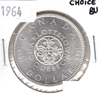 1964 Canada Dollar Choice Brilliant Uncirculated (MS-64)