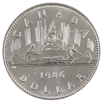 1986 Canada Nickel Dollar Choice BU (MS-64)