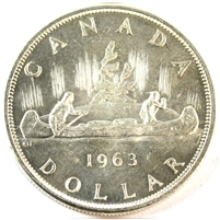 1963 Canada Dollar Brilliant Uncirculated Heavy Cameo