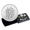 2020 Pure Silver Coloured 6-Coin Set with Medallion