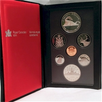 1986 Canada First Trans-Canada Train Proof Double Dollar Set