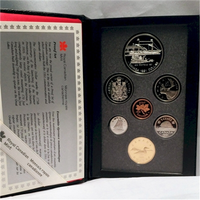 1991 Canada First Steamship on the Great Lakes Proof Double Dollar Set