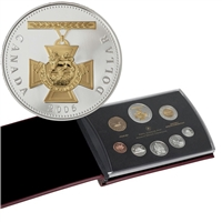 2006 Canada Proof Double Dollar Set with Gold Plated Silver Dollar