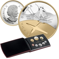 2009 Canada Centennial of Flight in Canada Proof Double Dollar Set