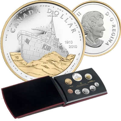 2010 Canadian Navy 100th Anniversary Proof Double Dollar Set