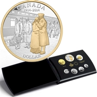 2014 Canada Fine Silver Deluxe Proof Set - 100th Ann of WWI (No Tax)