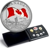 2015 Canada Coloured 50th Anniversary Canada Flag Silver Proof Set (No Tax)