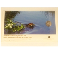 2005 Canada 5-Cent First Day Cover