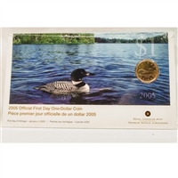 2005 Canada Loon Dollar First Day Cover