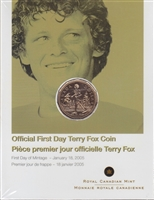 2005 Canada Terry Fox First Day Cover.