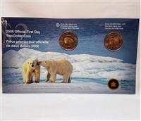 2006 Canada Regular $2 First Day Strike Coins - Old & New Mark -