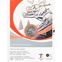 2007 Canada 25-cent Alpine Skiing Olympic First Day Cover