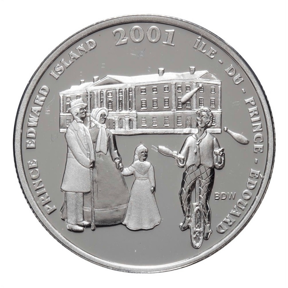 2001 Festivals of the Fathers Confederation 50 Cents Canada Sterling Silver Coin