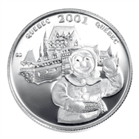 2001 50-cent Festivals of Canada - Carnaval de Quebec Sterling Silver