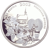 2002 Canada 50-cent Apple Blossom Festival Sterling Silver