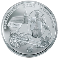 2003 50-cent Festivals of Canada - Back To Batoche Sterling Silver