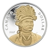 2007 Canada Gold Plated Proof Sterling Silver Dollar in square capsule