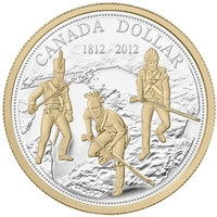 2012 Canada Gold Plated Proof Silver Dollar in Square Capsule (No Tax)